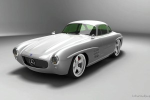 Download 2009 Mercedes Benz Sl Gullwing Panamericana HD Free Wallpaper on dailyhdwallpaper.com