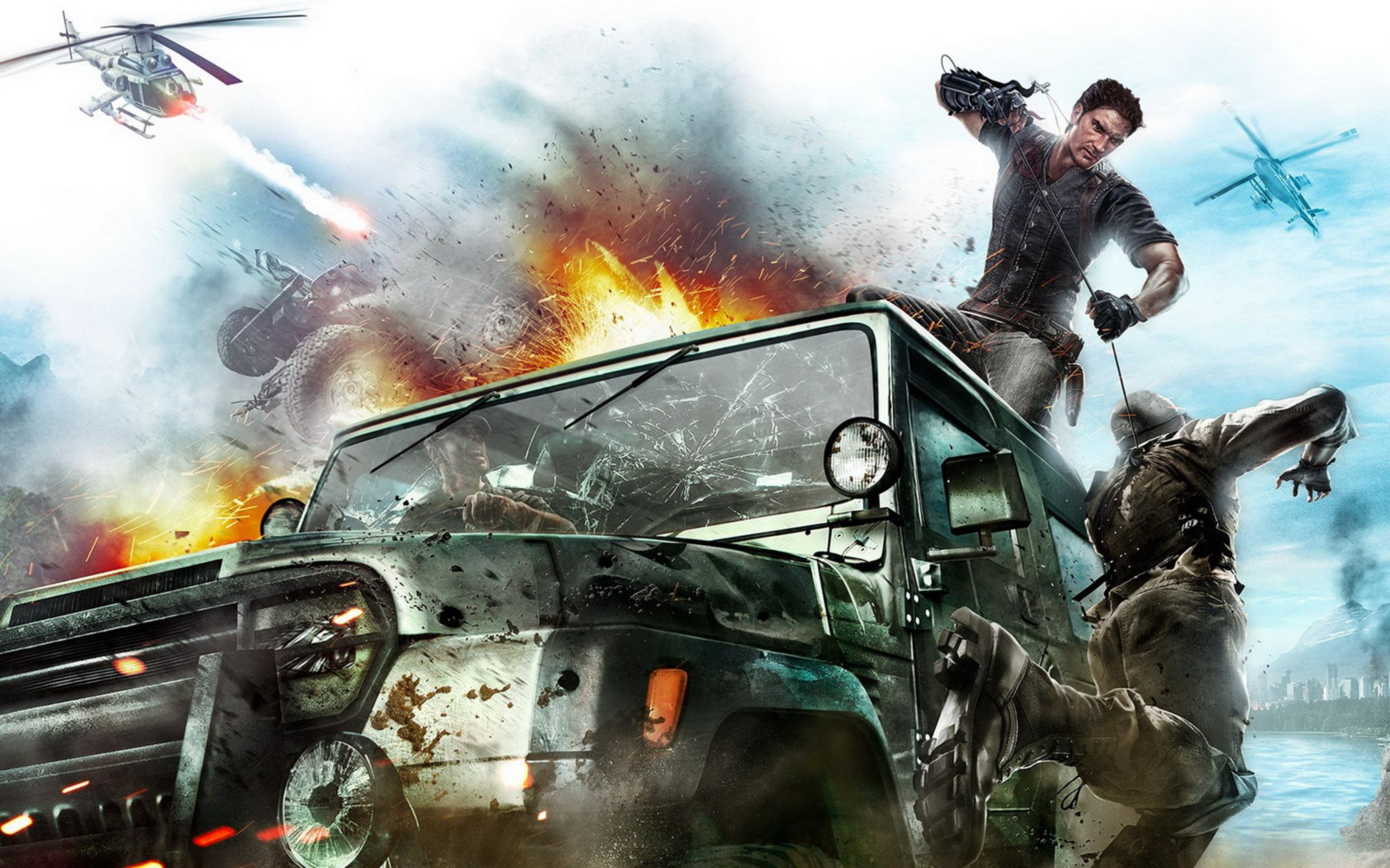 Download free HD 2010 Just Cause 2 Game Wide Wallpaper, image