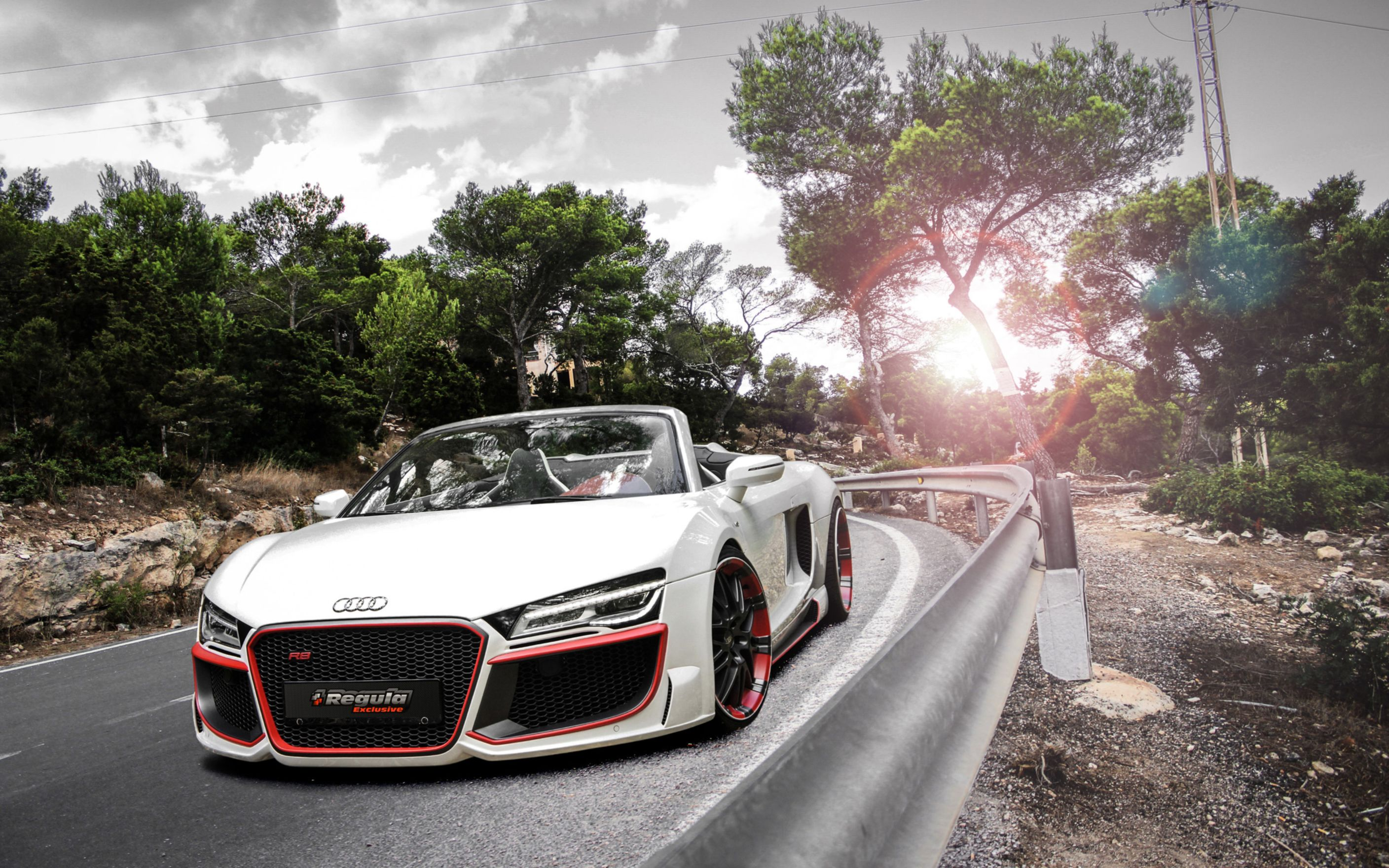 Download free HD 2014 Audi R8 V10 Spyder Regula Tuning Wide Wallpaper, image