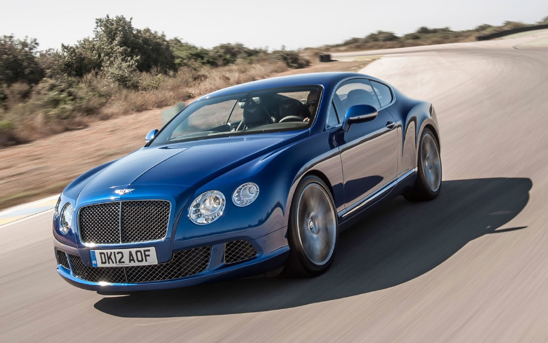 2015 Bentley Continental GT V8 S Blue Color  Wallpaper