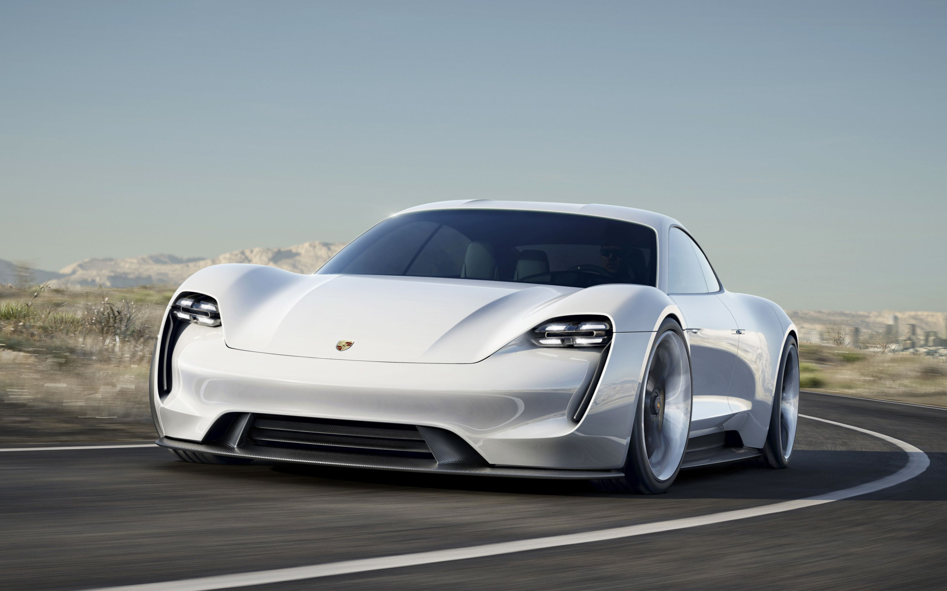 Download free HD 2015 Porsche Mission E Wide Wallpaper, image
