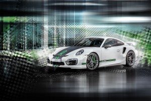 2015 TechaRT Porsche 911 Turbo Wide Wallpaper
