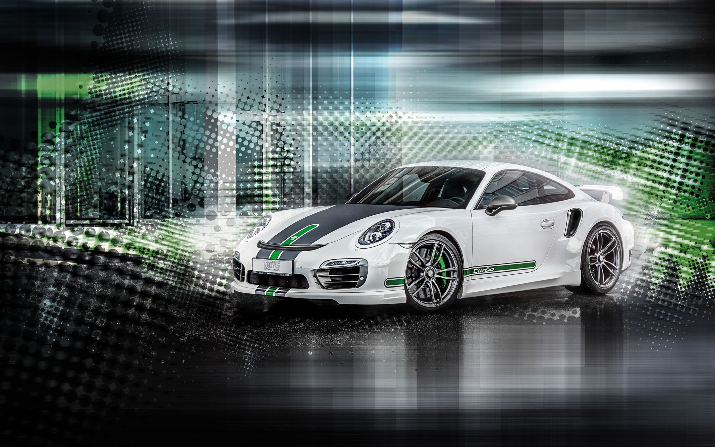 Download free HD 2015 TechaRT Porsche 911 Turbo Wide Wallpaper, image