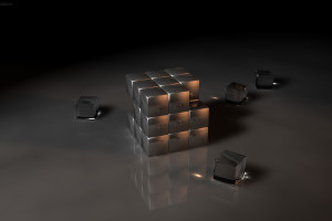 3d Kubik Rubik Wallpaper to Download