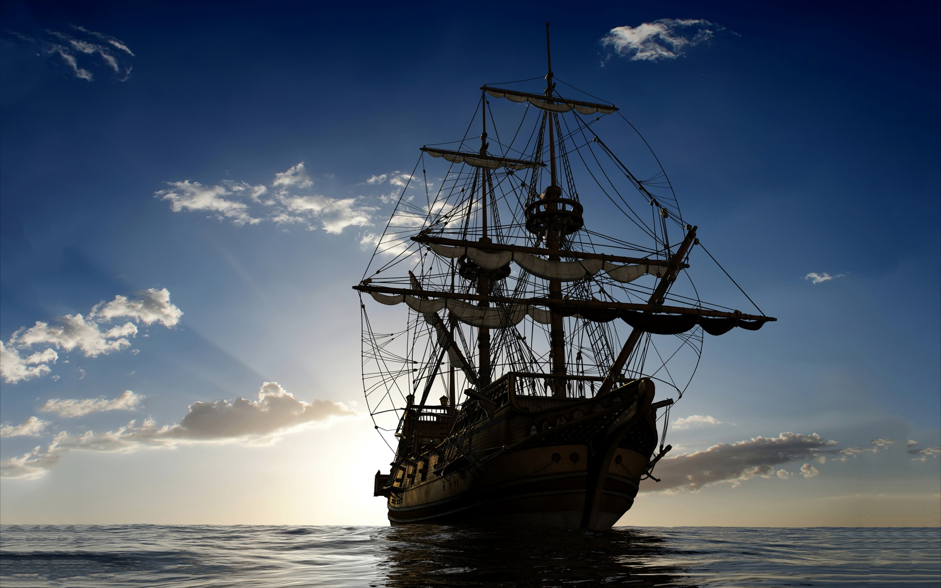 Download free HD Sailing Ship Ocean Wallpaper, image