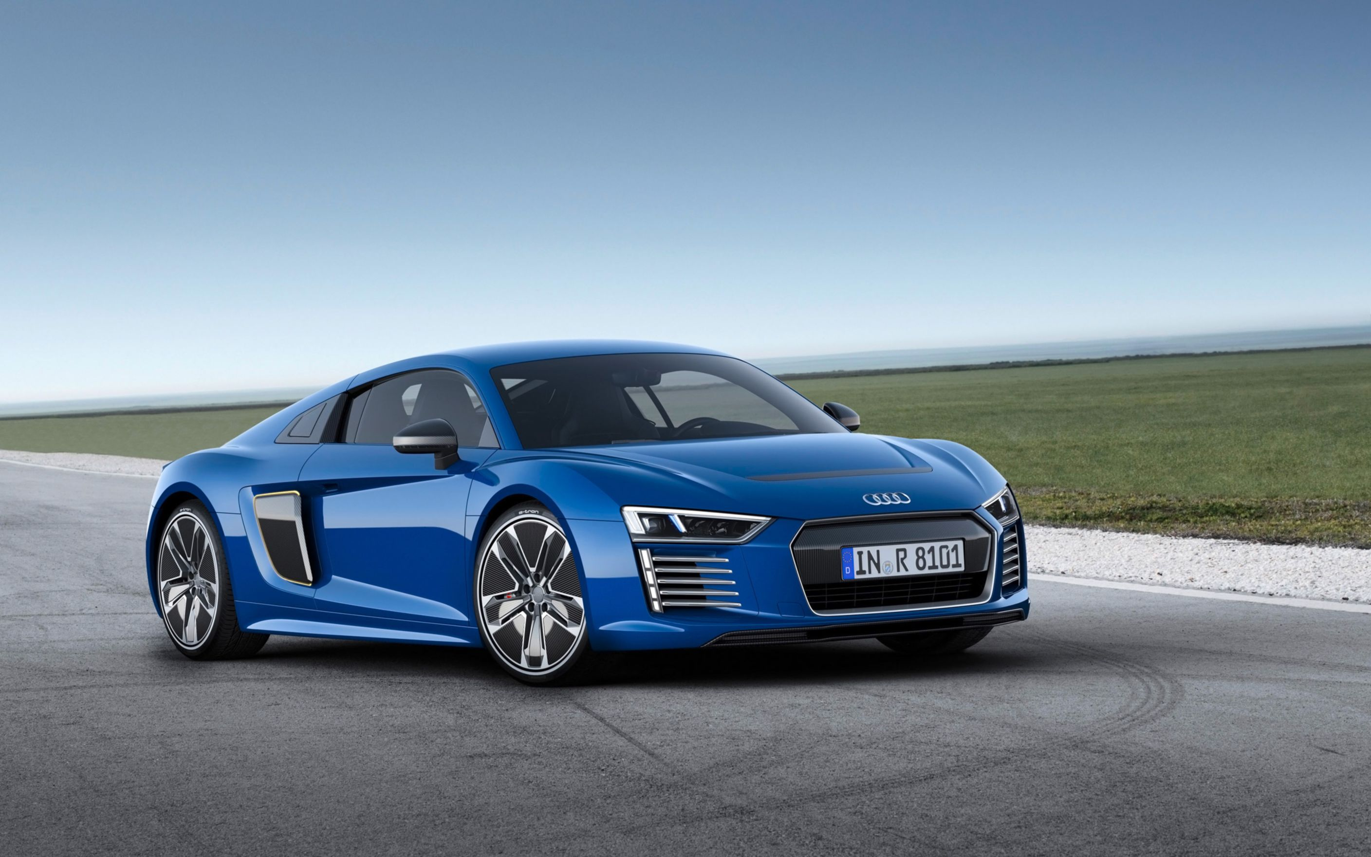 Download free HD 2016 Audi R8 E Tron Wide Wallpaper, image