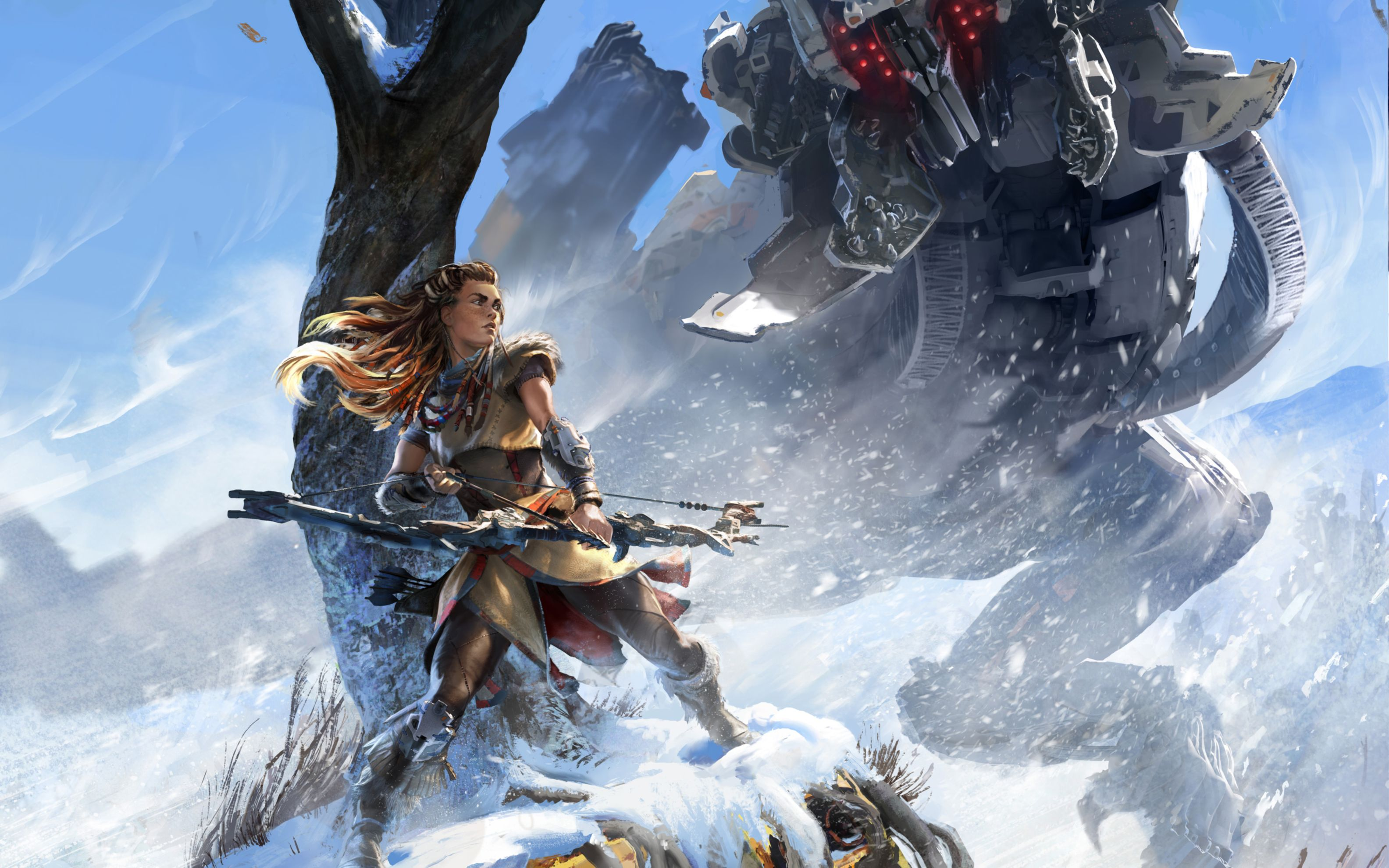 Download free HD 2016 Horizon Zero Dawn Wide Wallpaper, image