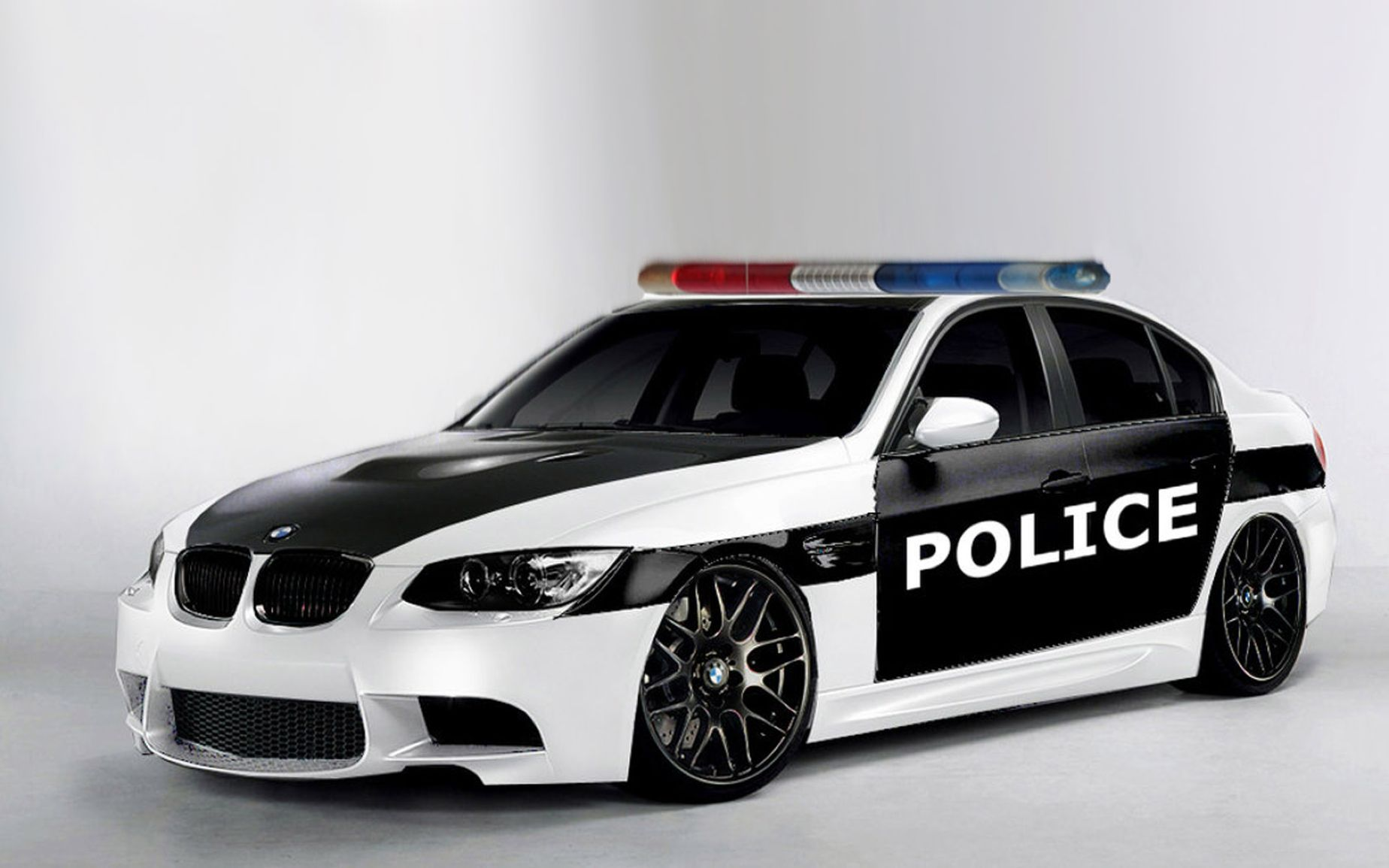 3D BMW M3 Police Car Wallpaper