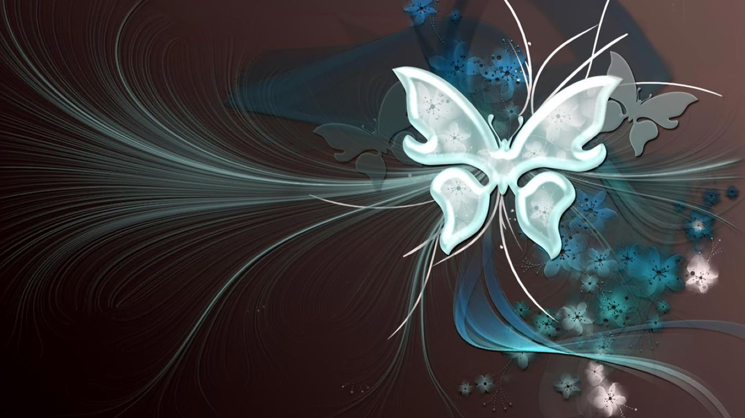 3d Butterfly Hd For Laptop 1366x768 Wallpaper Desktop Hd Wallpaper