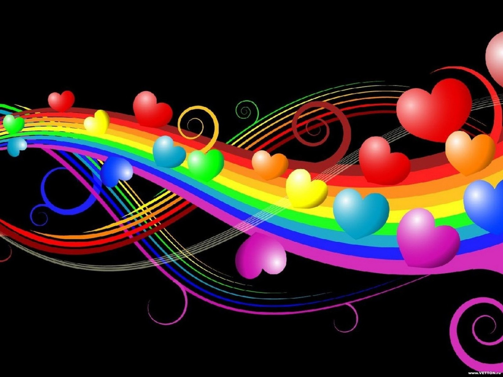 3D Colorful Background Wallpaper