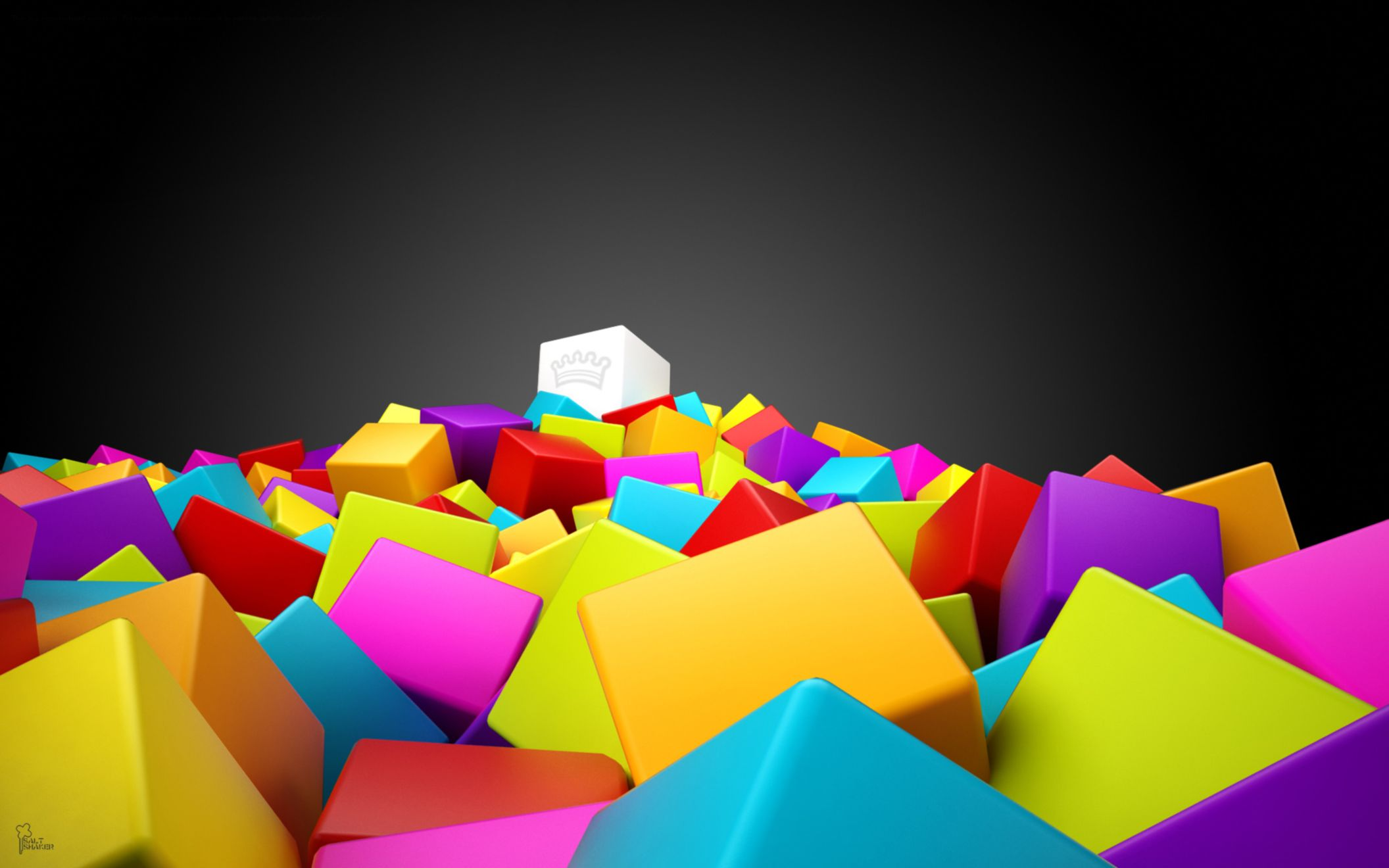 Download free HD 3D Colorful Squares Wide Wallpaper, image