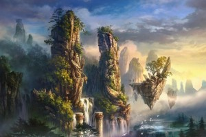 3D Fantasy World Background Wallpaper