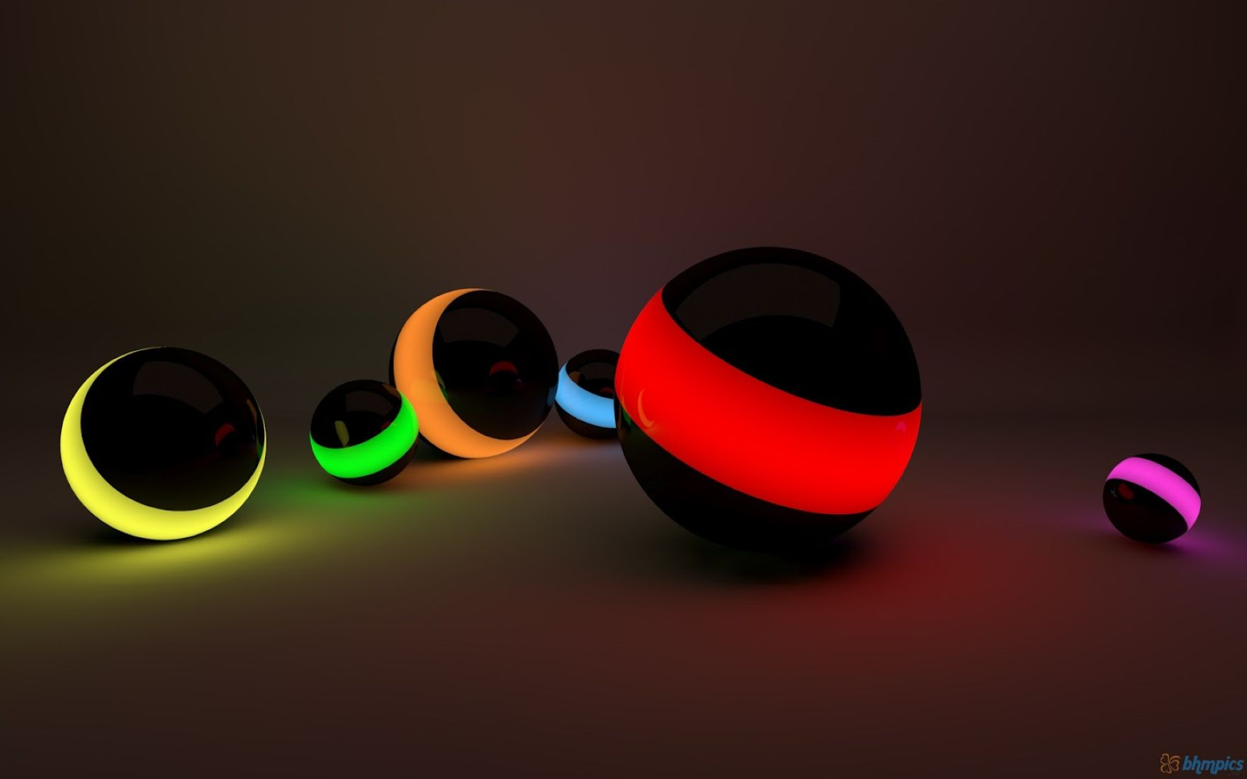 Download free HD 3D HD Colorful Ball for Laptop Free Download Wallpaper, image