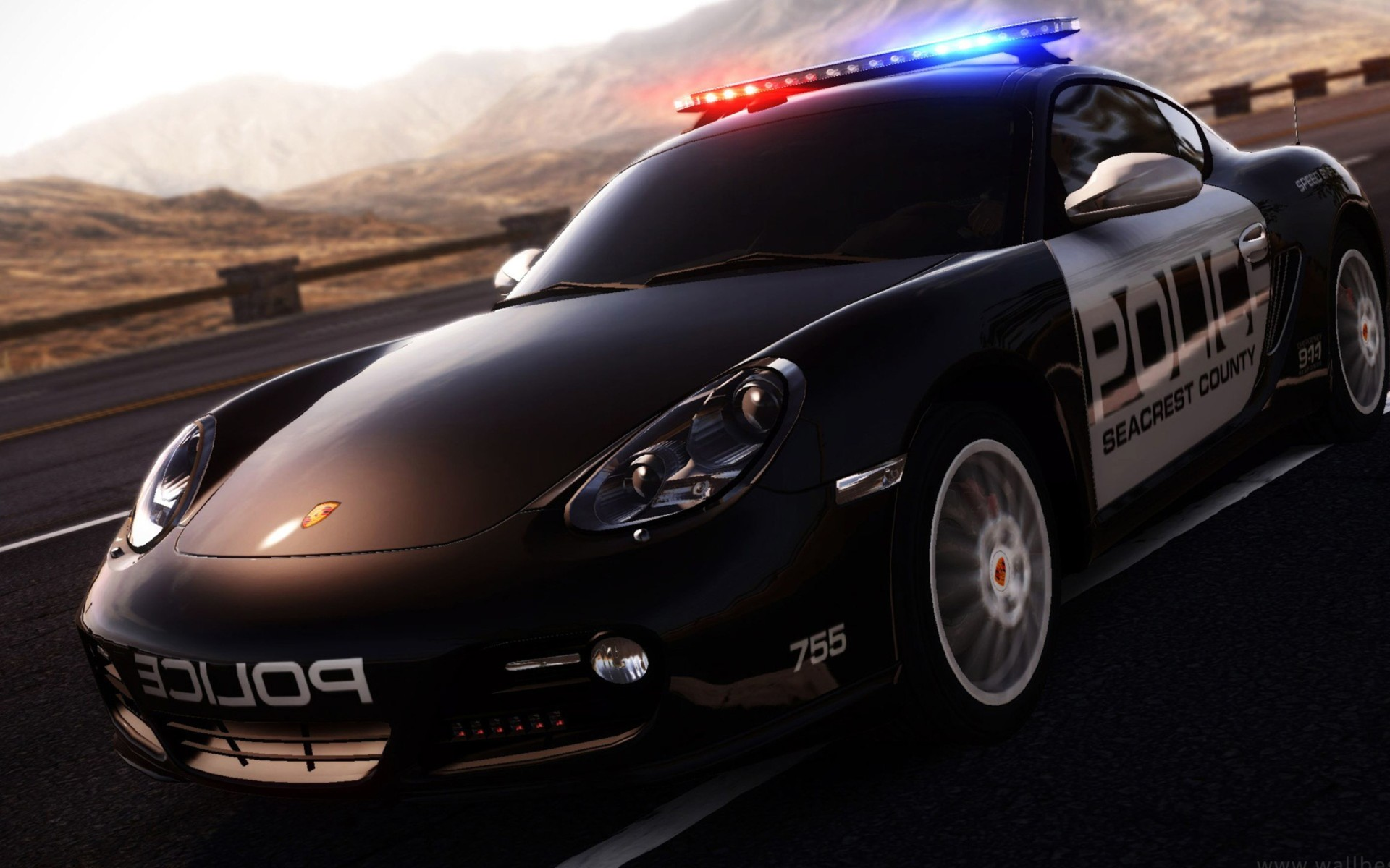 3D Police Car Desktop Backgrounds Wallpaper