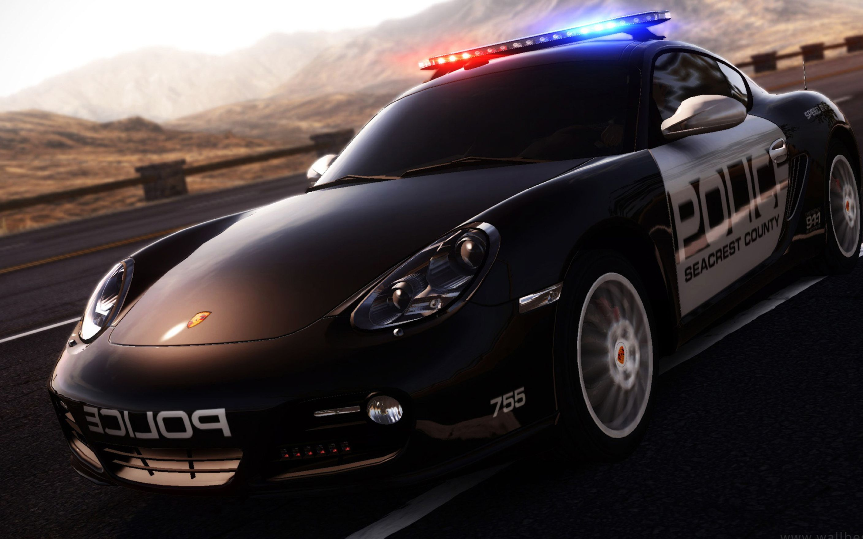 3d Police Car Desktop Backgrounds Wallpaper Desktop Hd