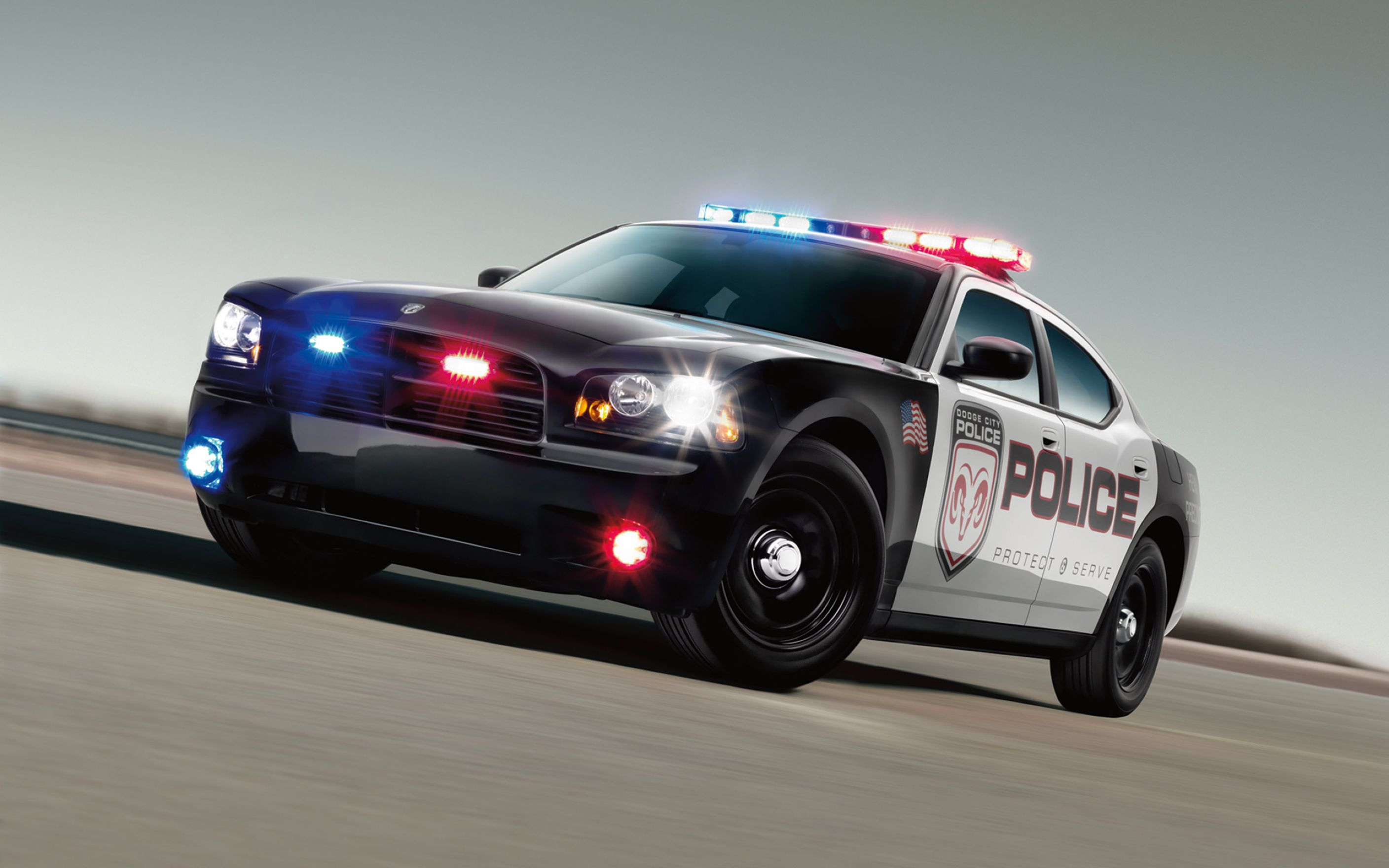 Download free HD 3D Police Car Widescreen Wallpaper, image