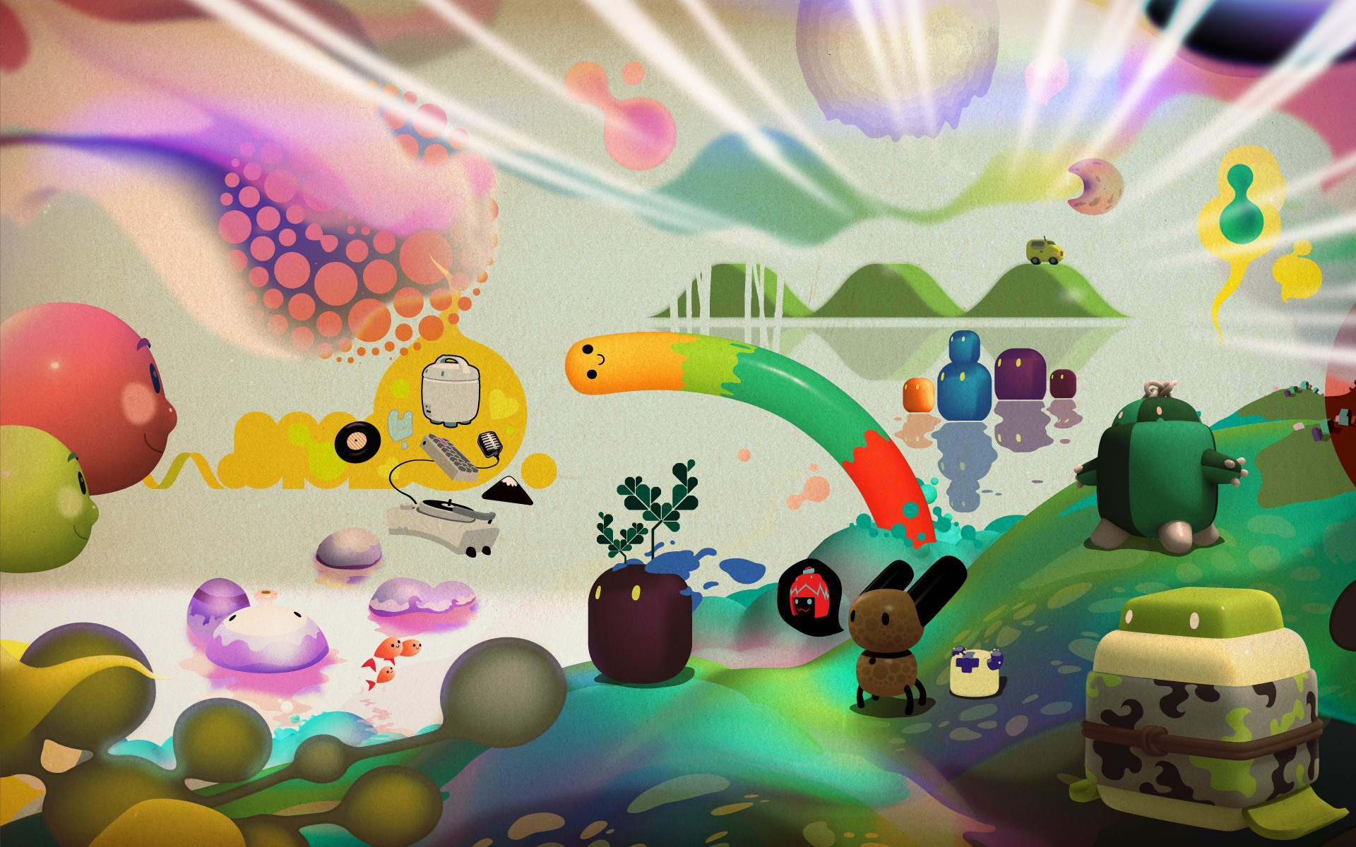Download free HD 3d Abstract Cartoon S HD For Windows 7 Wallpaper, image