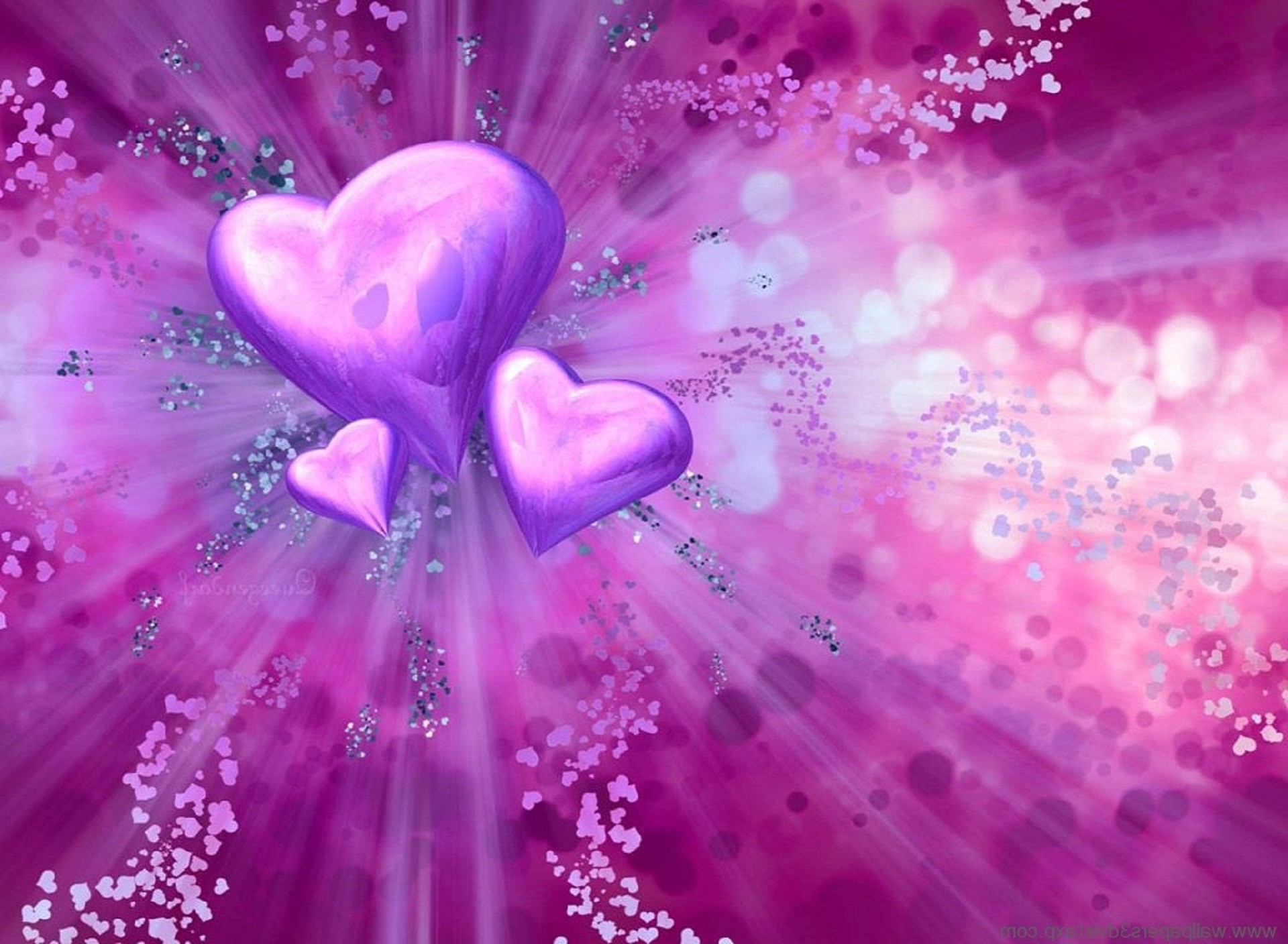 3D Cute Background Love Wallpaper