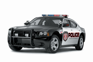 3d Dodge Police Car  Wallpaper