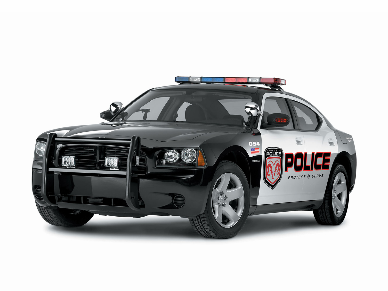 Download free HD 3D Dodge Police Car Wallpaper, image