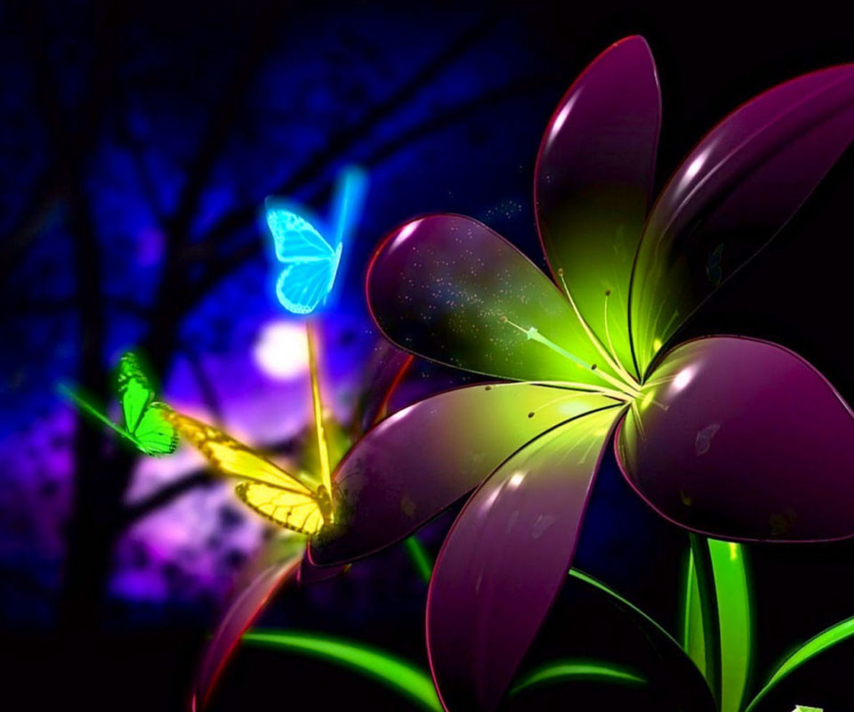 3D Flower For Android Wallpaper: Desktop HD Wallpaper
