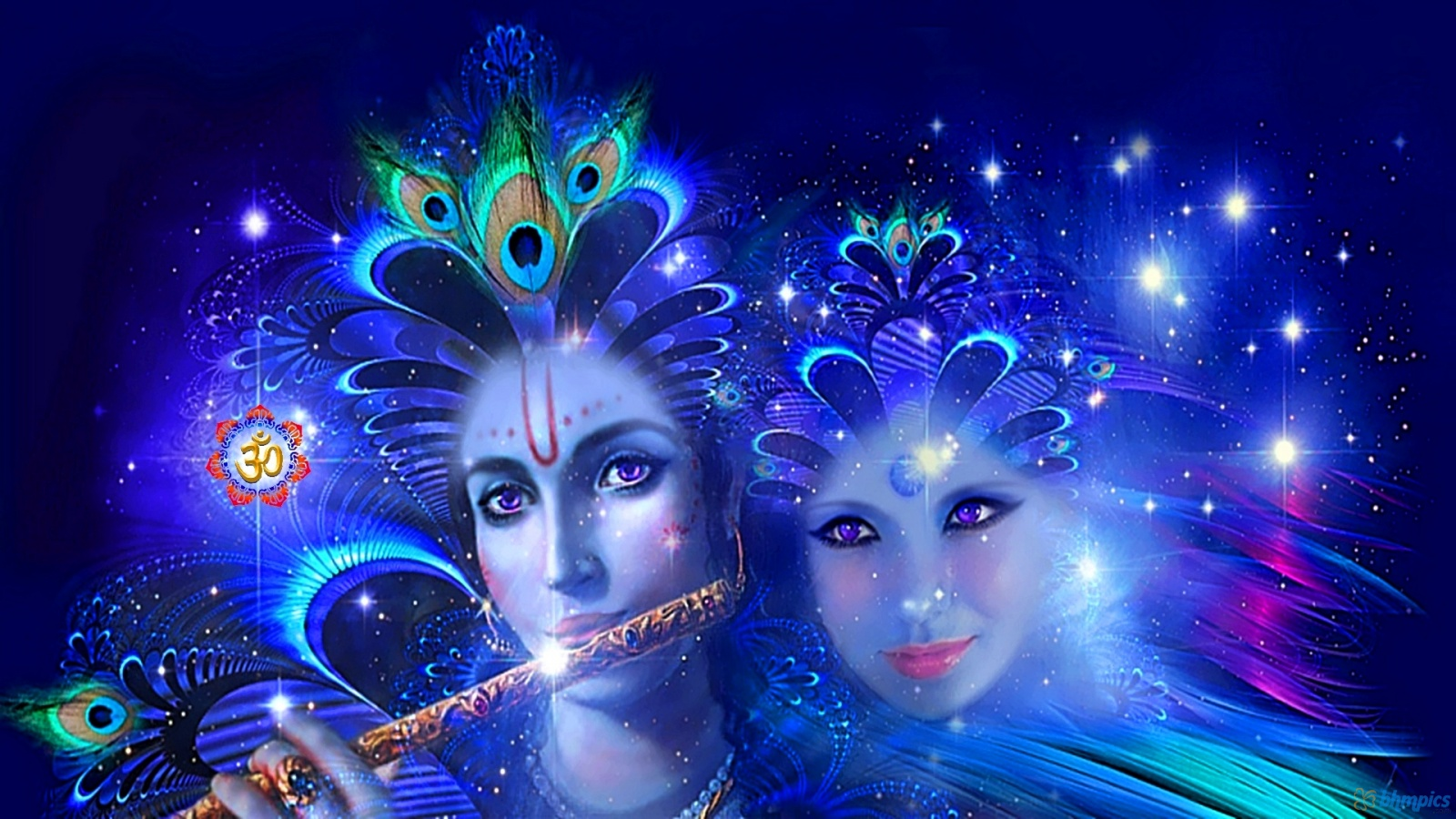 3D HD Radha Krishna Wallpaper