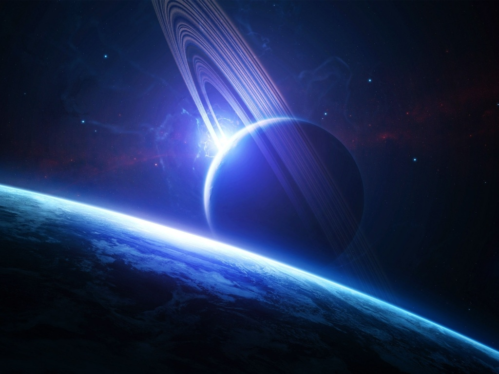 3D Space Wallpaper