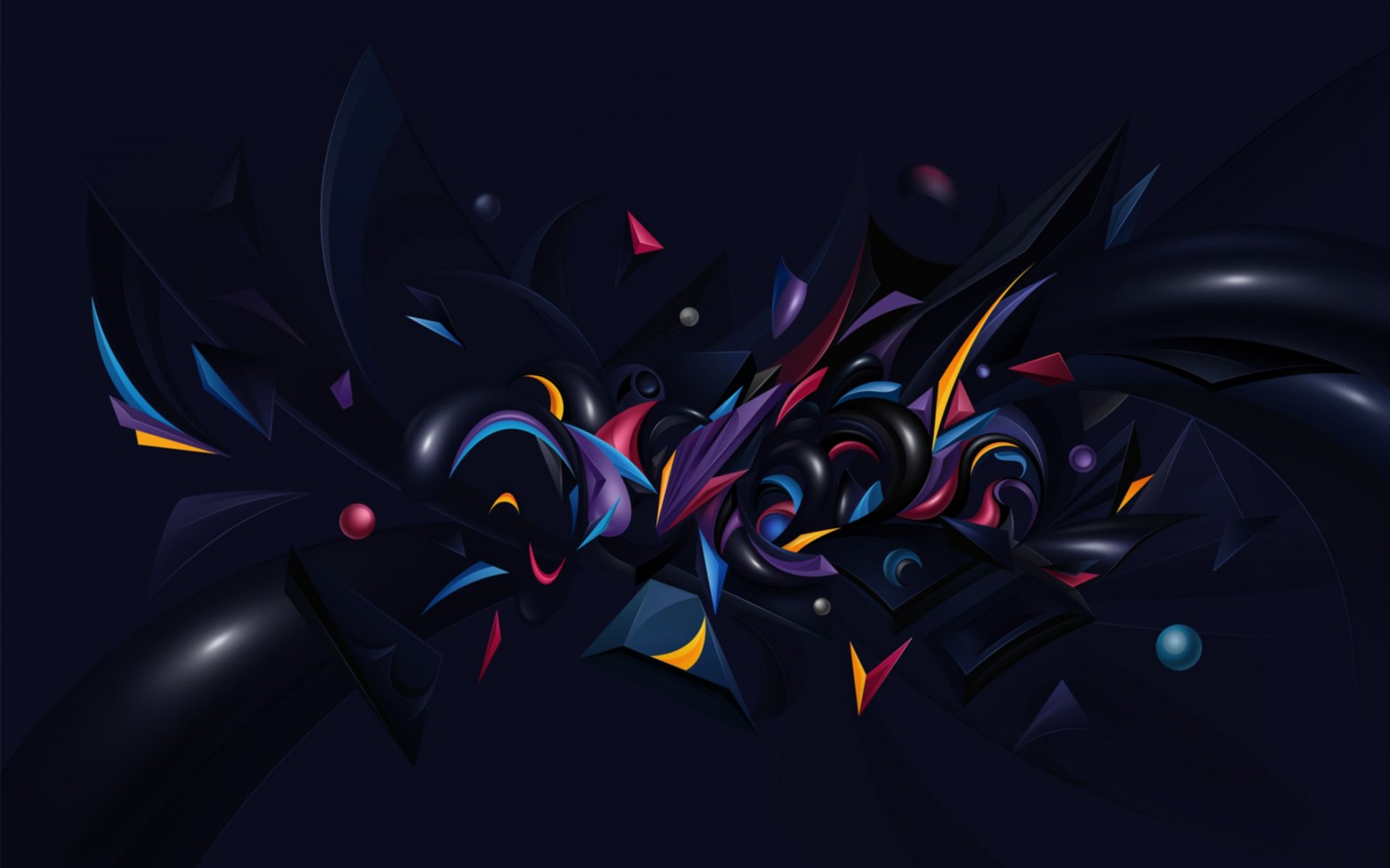 Abstract Chaos Wide Wallpaper