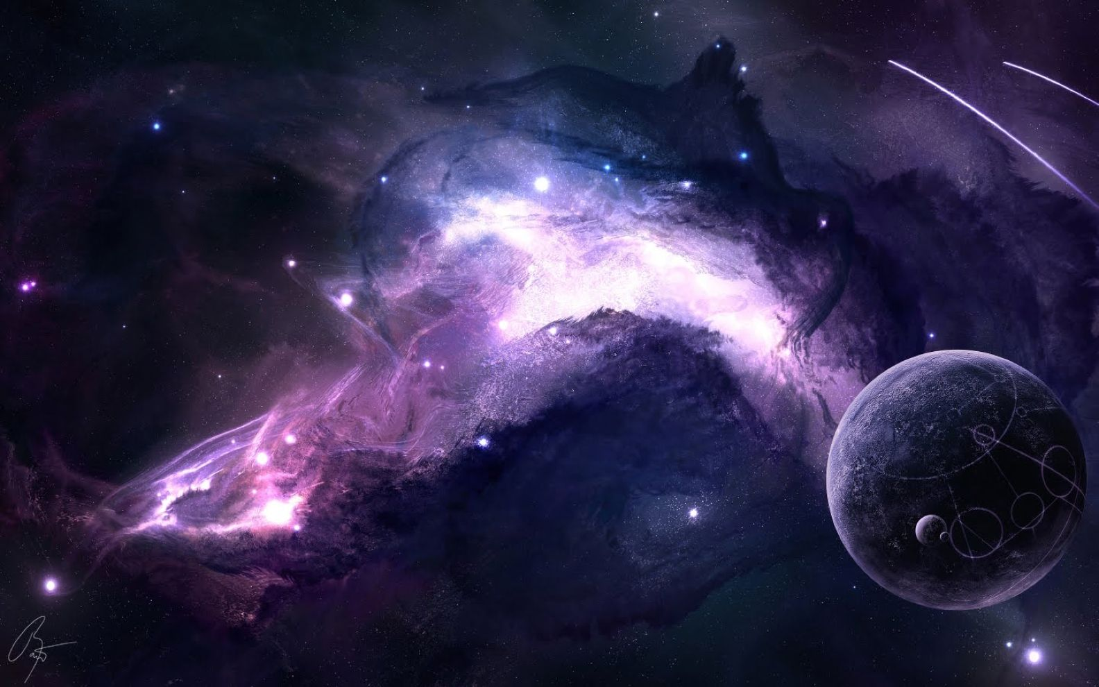 Abstract Cool 3D Space Hd Wallpaper