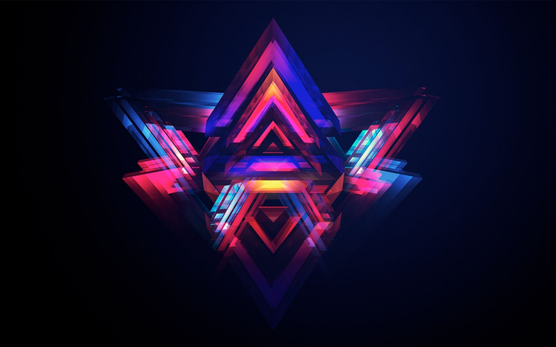Abstract Pyramids Wide Wallpaper