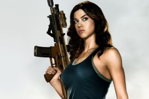Adrianne Palicki in G I  Joe 2 Wide Wallpaper