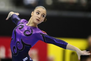 Aliya Mustafina Gymnastics Beauty Face Sports Wallpaper Wallpaper