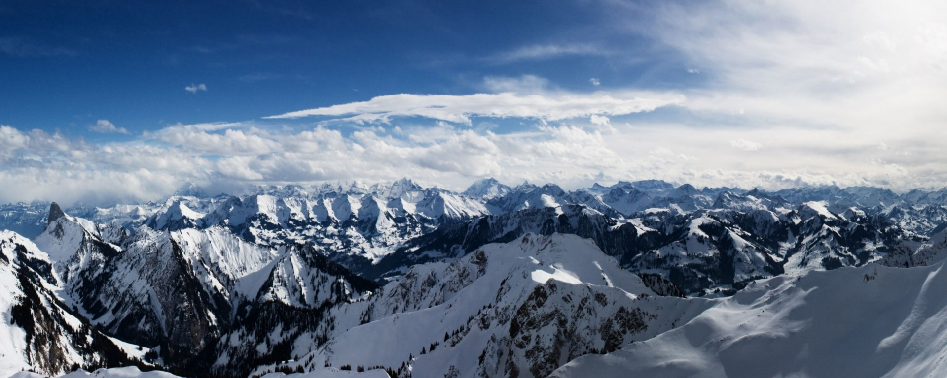 Alps Mountains Dual Monitor Other Wallpaper
