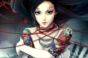 Download Anime Girl Tattoos  Awesome Wallpaper Free Wallpaper on dailyhdwallpaper.com