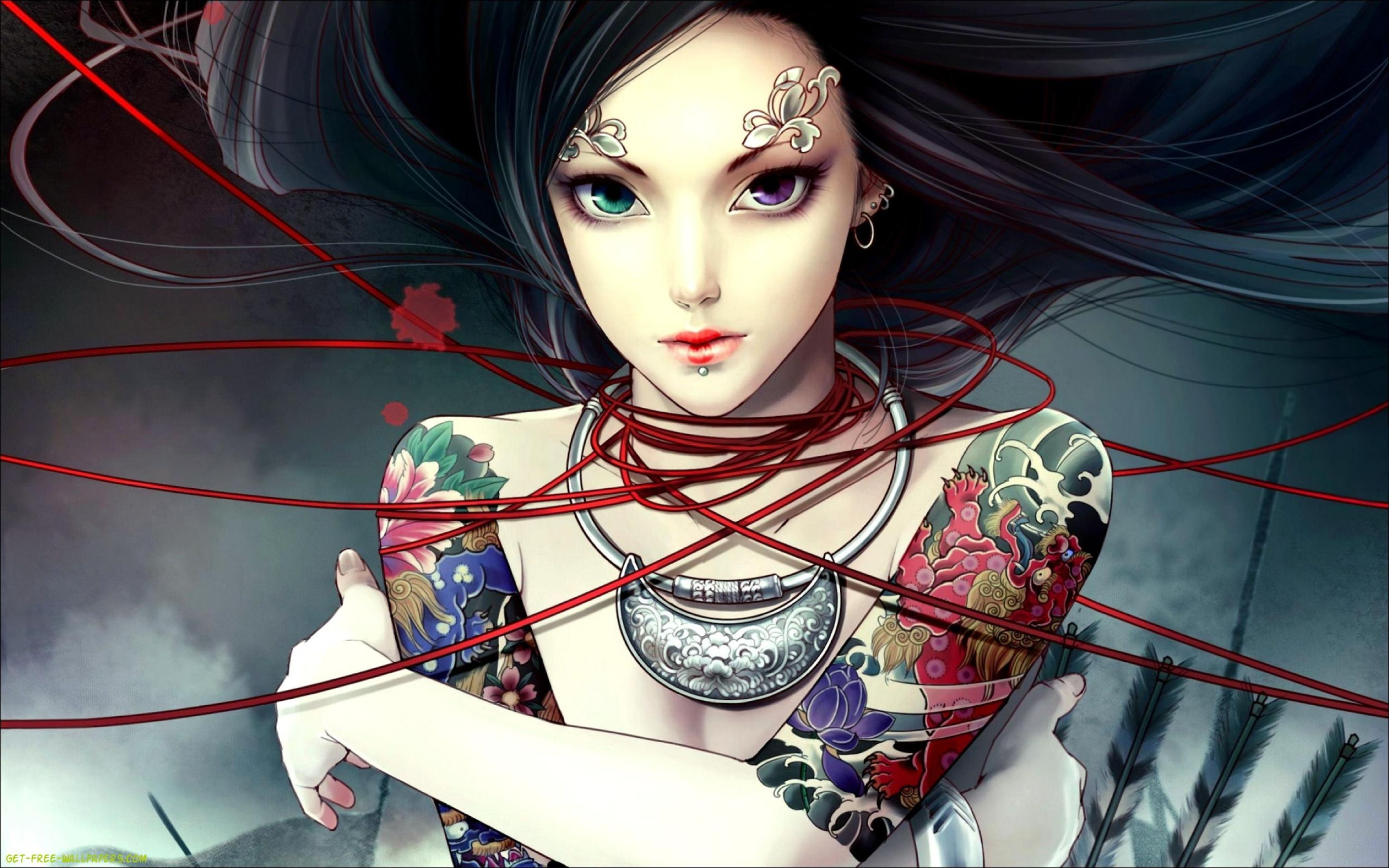 Download free HD Anime Girl Tattoos  Awesome Wallpaper, image