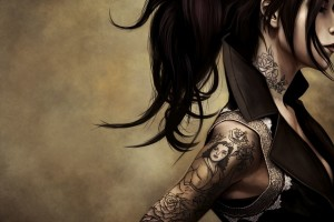 Anime Girl Tattoos  Wallpaper