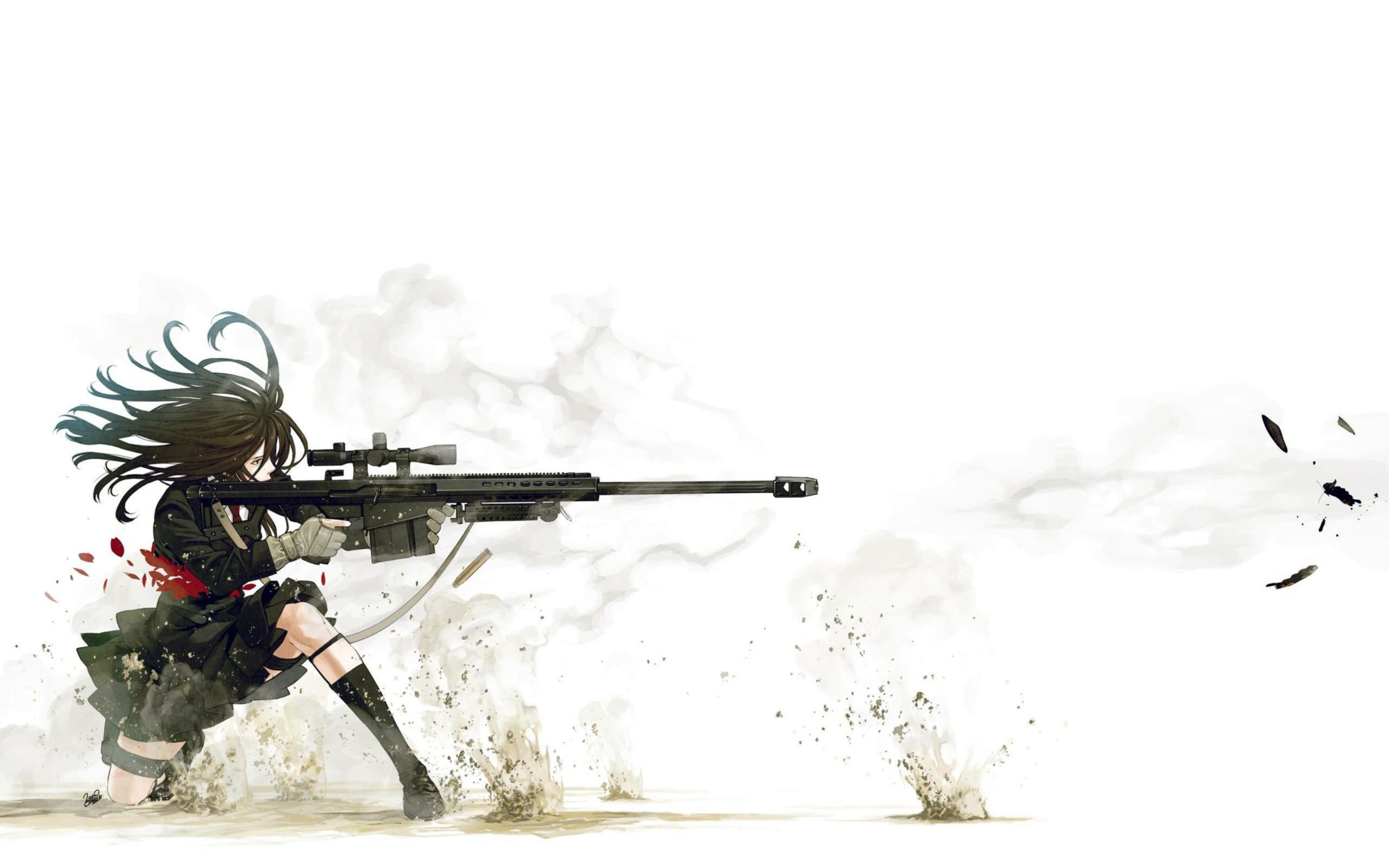 Download free HD Anime Sniper Wide Wallpaper, image