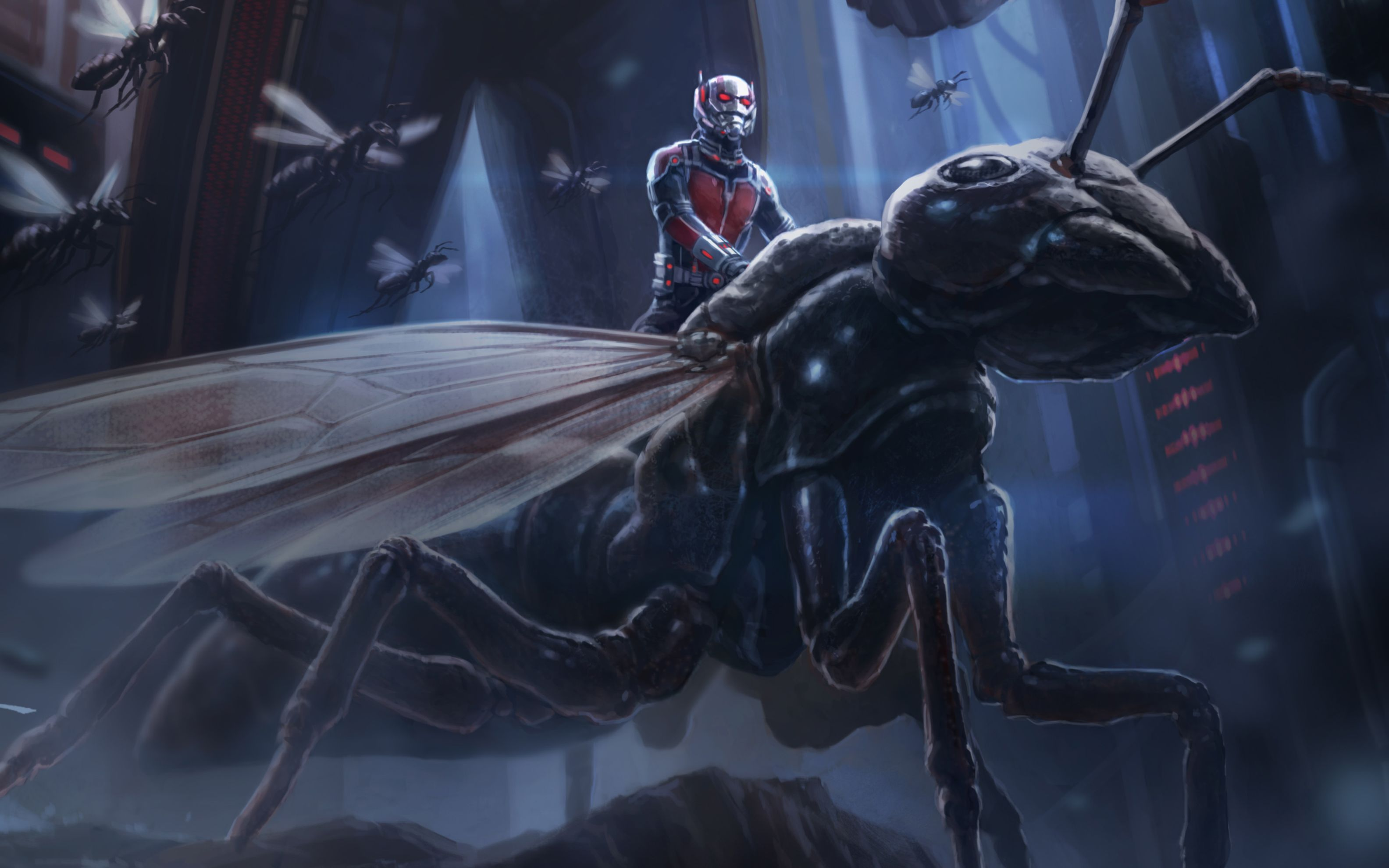 Download free HD Ant Man Artwork Wide Wallpaper, image