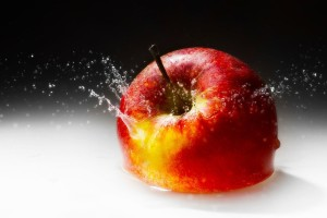 Apple Fruit Water Wallpaper
