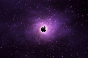 Apple Logo Dark Wide Wallpaper