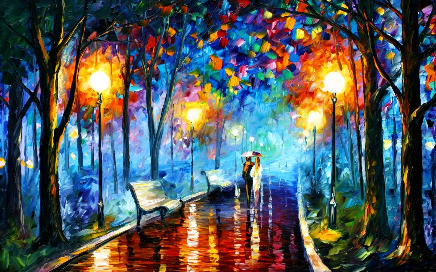 Download free HD Art Paint Street HD  Wallpaper, image