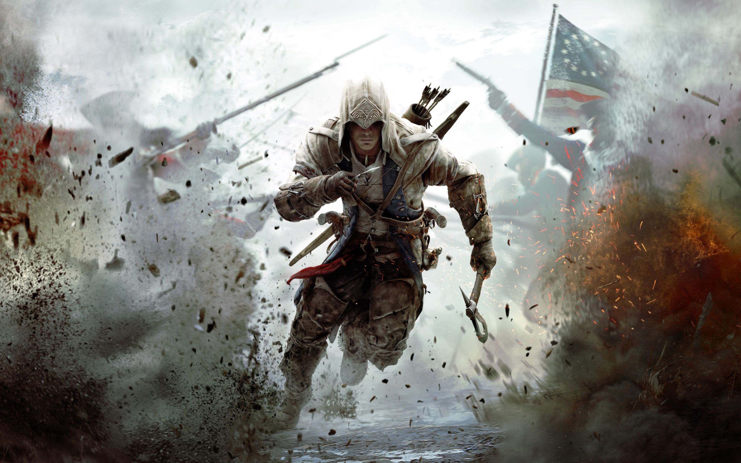 Download free HD Assassins Creed 3 2012 Game Wide Wallpaper, image