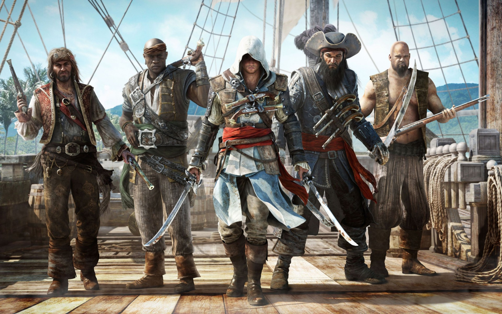 Assassins Creed Black Flag Game Wide Wallpaper