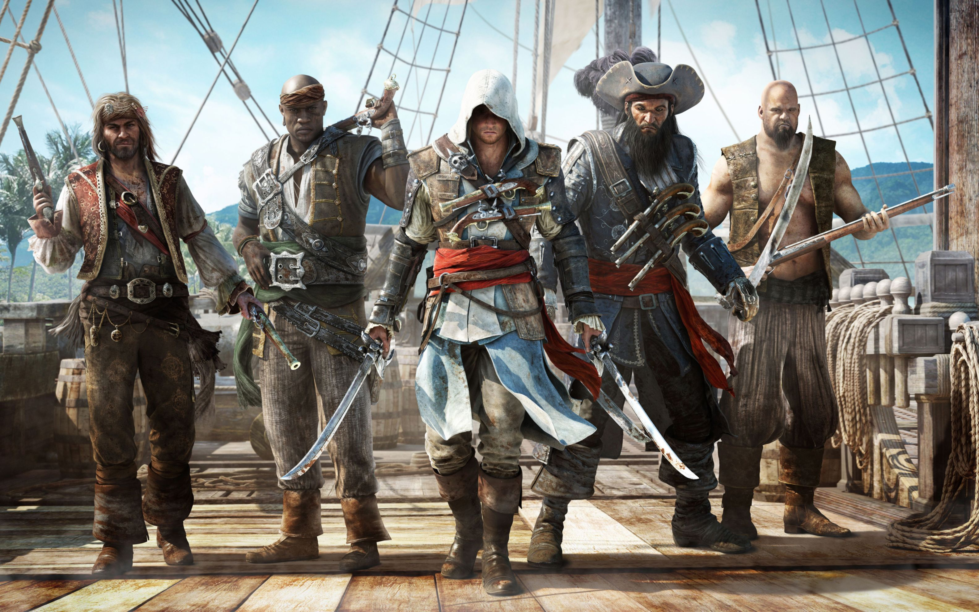 Download free HD Assassins Creed Black Flag Game Wide Wallpaper, image