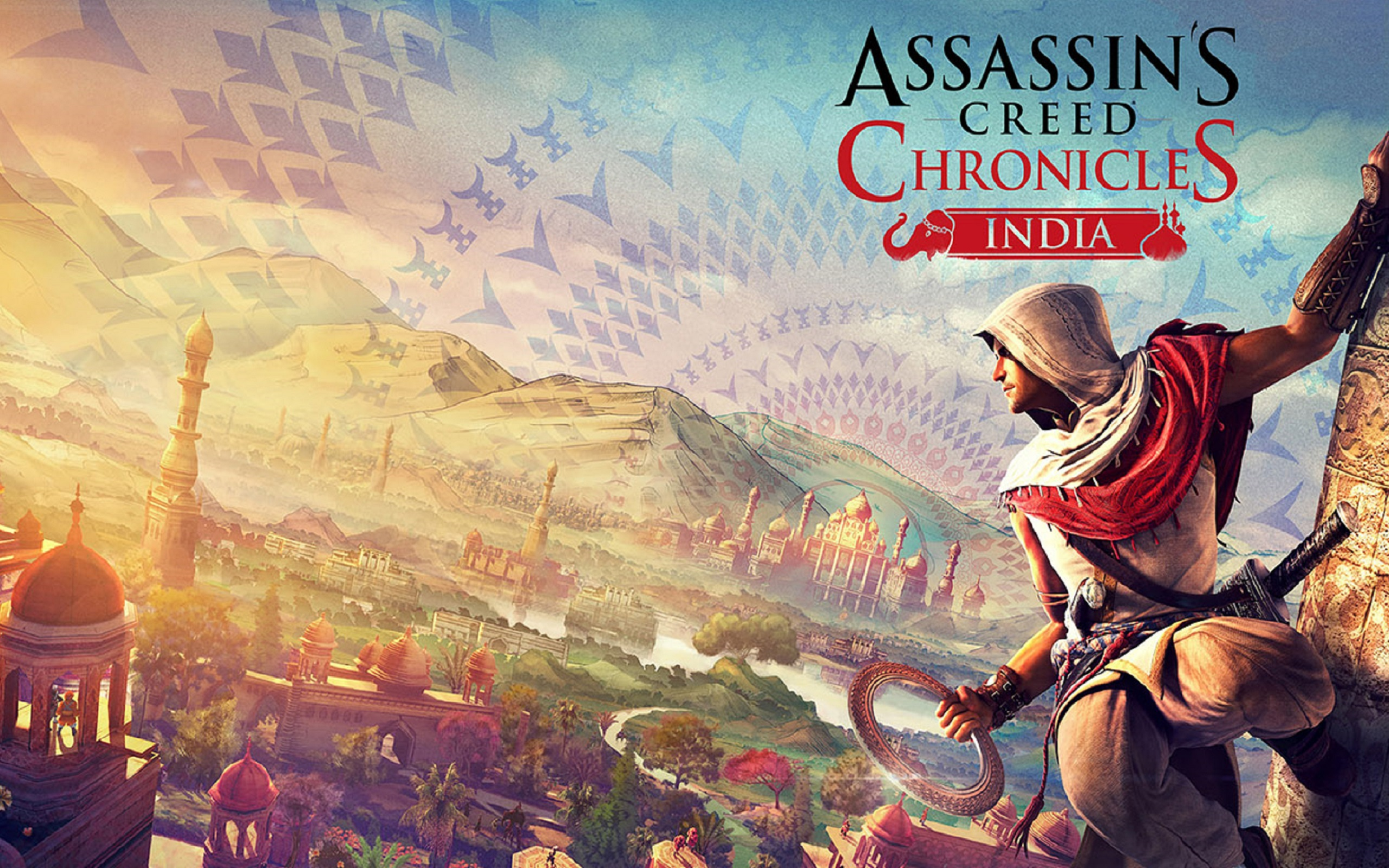 Download free HD Assassins Creed Chronicles India Game Logo Wallpaper, image