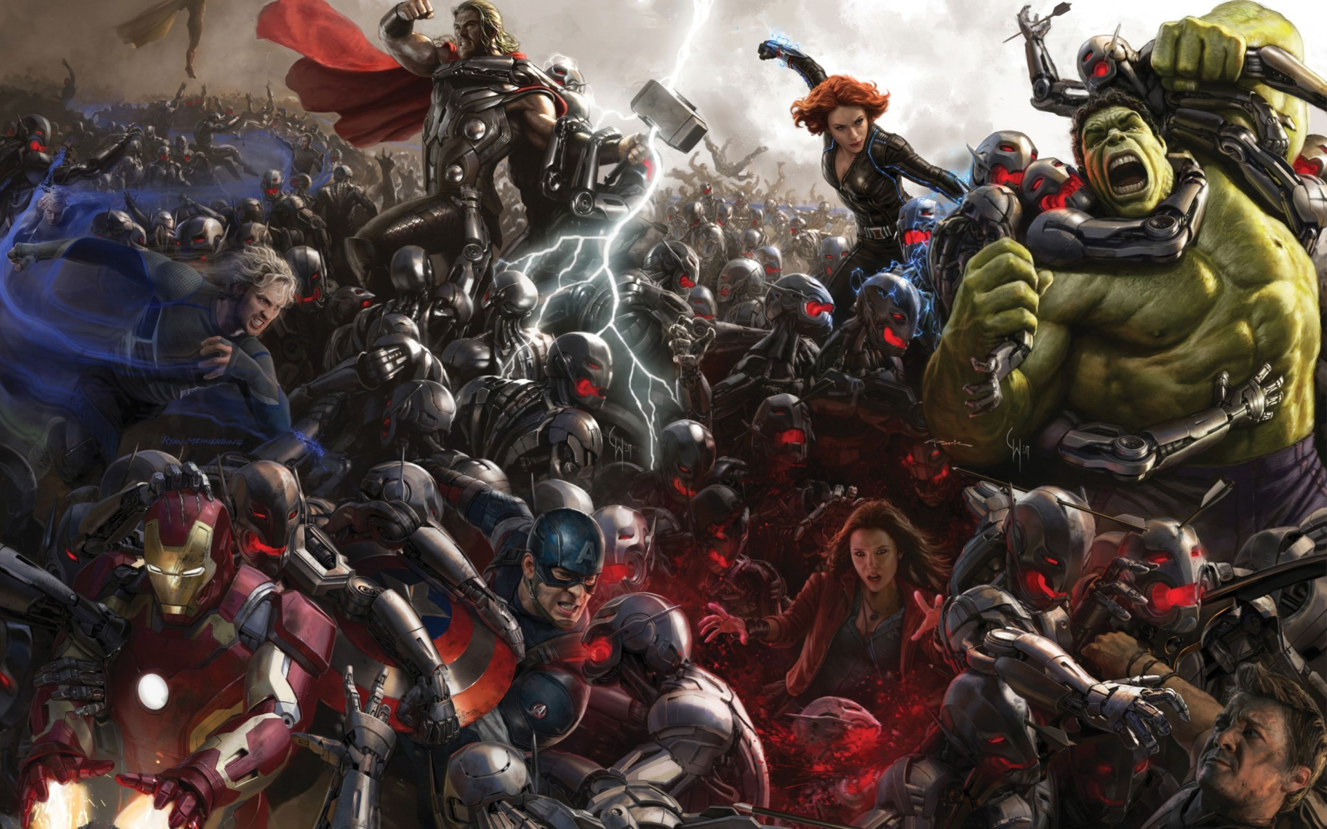 Avengers Age Of Ultron Concept Art Wide Wallpaper