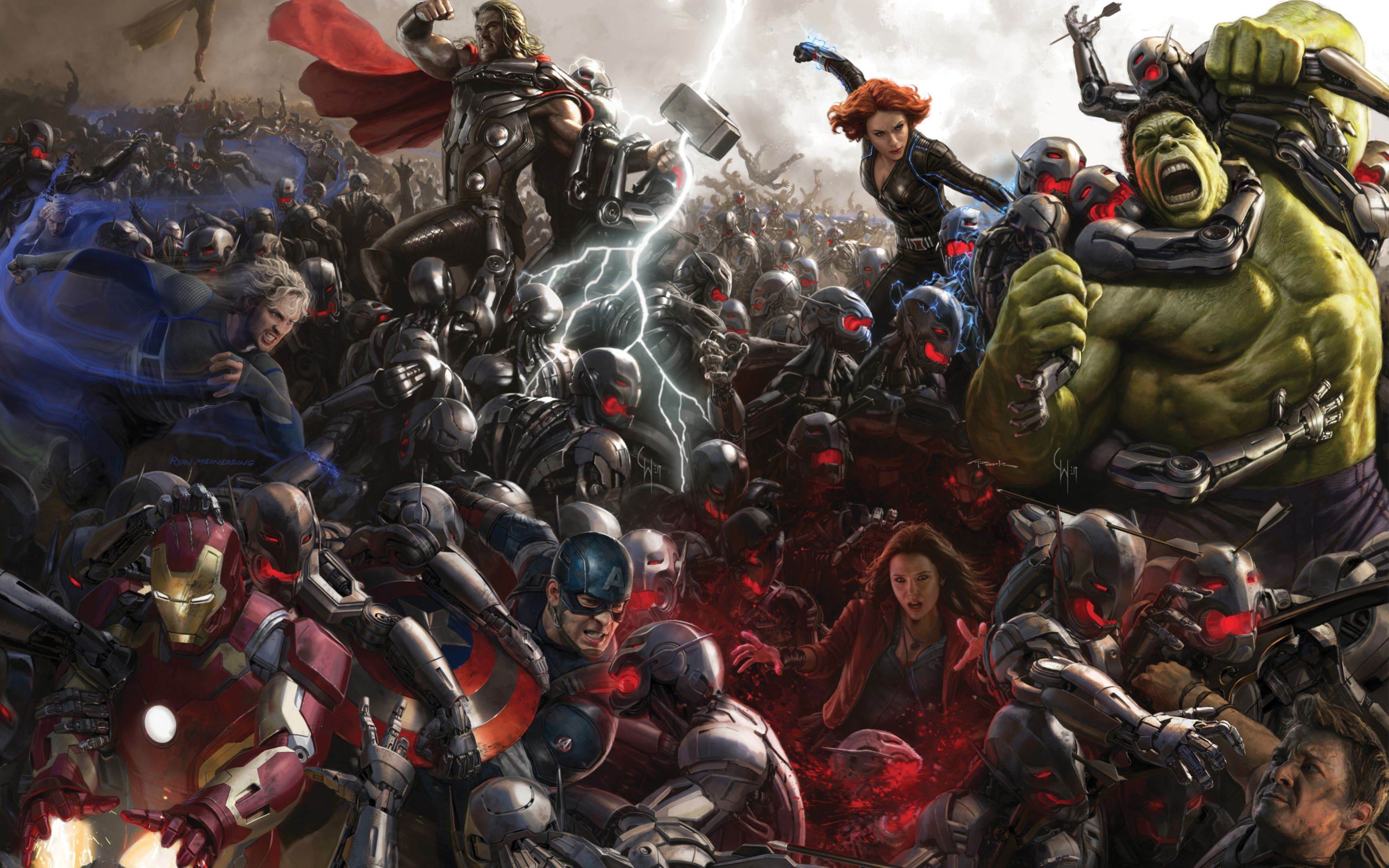 Download free HD Avengers Age Of Ultron Concept Art Wide Wallpaper, image