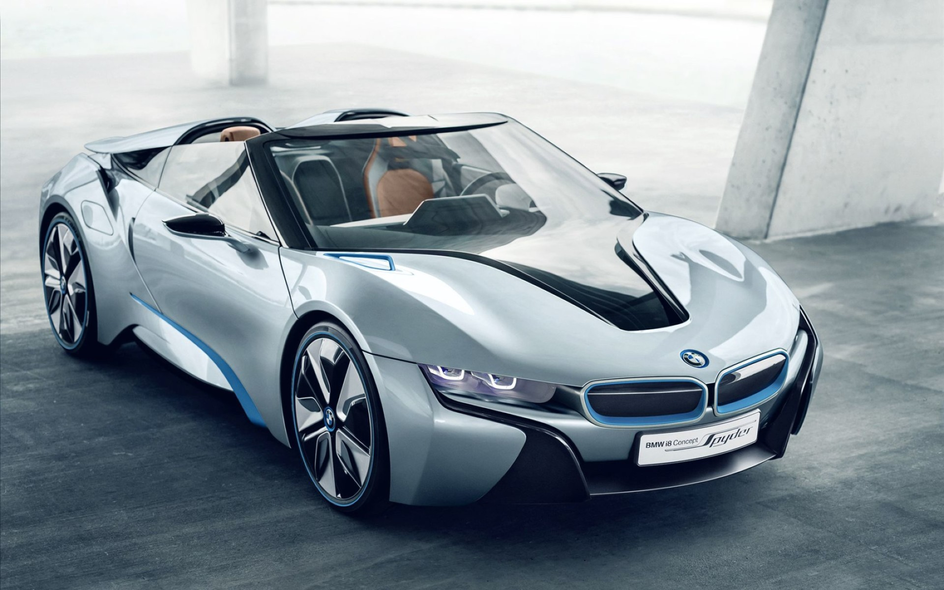 BMW I8 Spyder Concept Car Wide Wallpaper