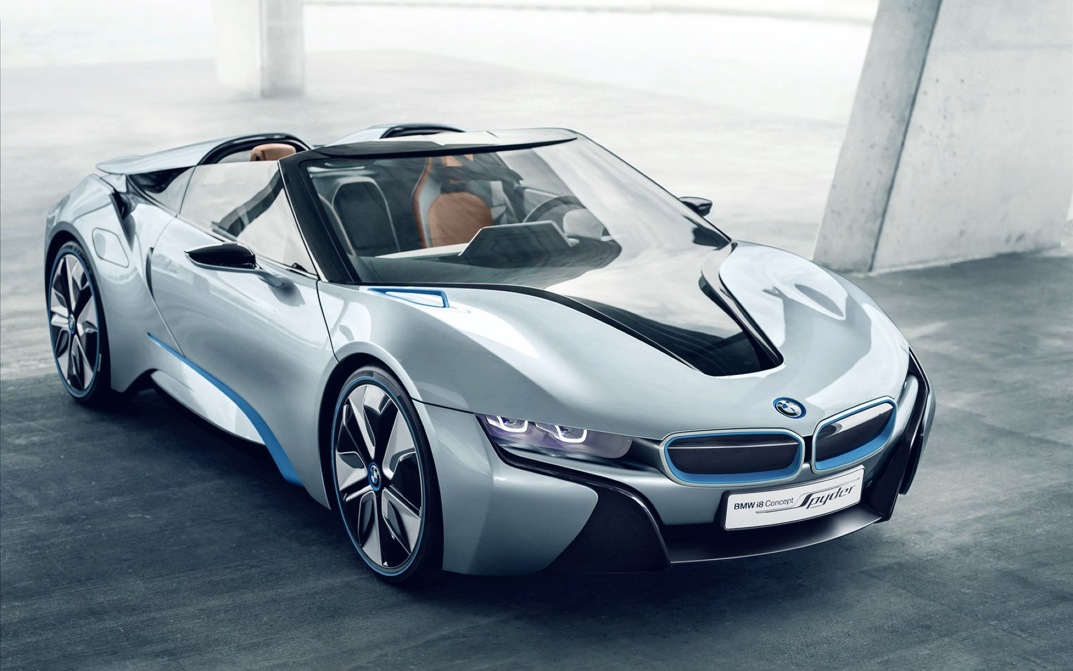 Download free HD BMW I8 Spyder Concept Car Wide Wallpaper, image