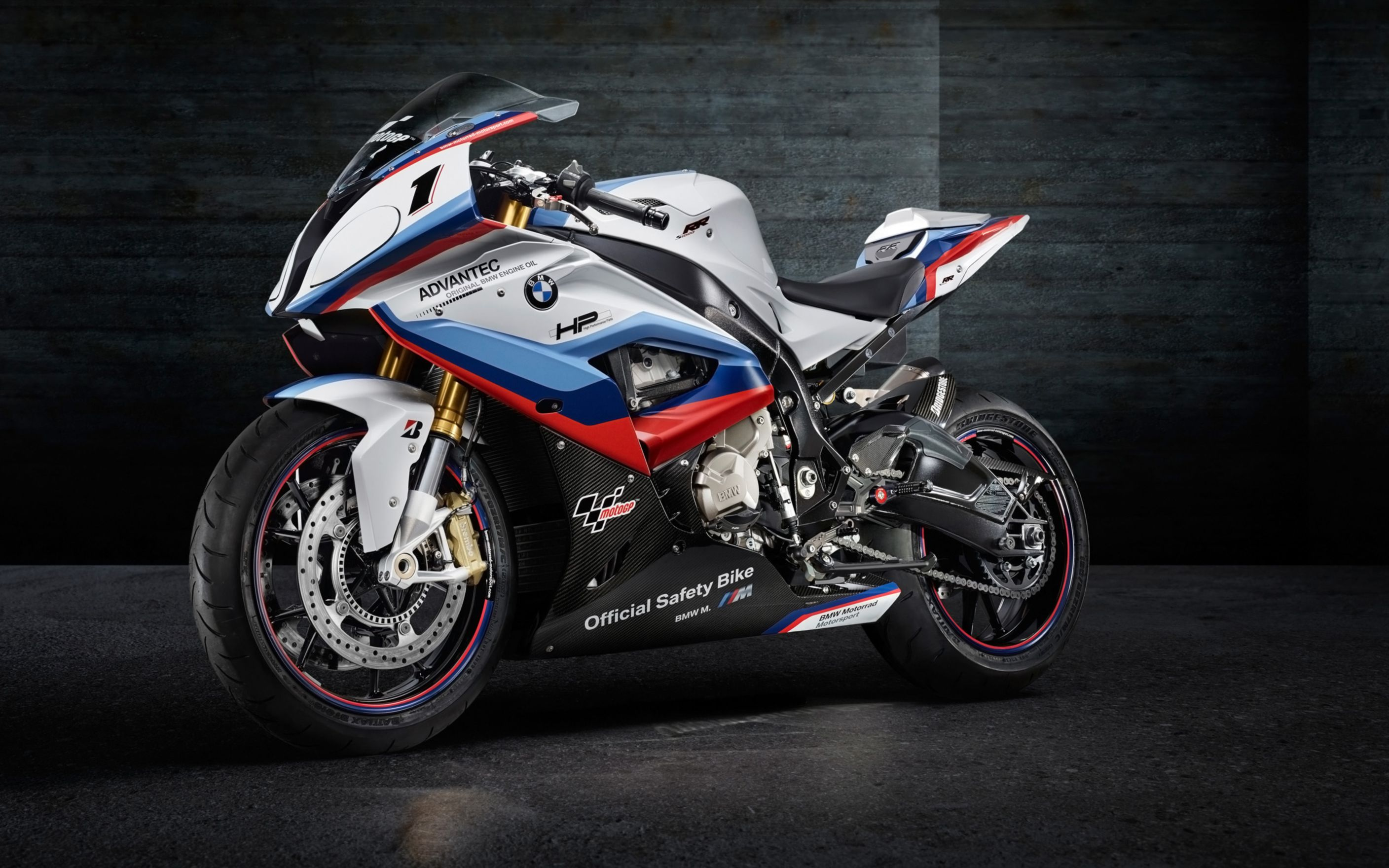 Download free HD BMW S1000rr MotoGP Safety Bike Wide Wallpaper, image
